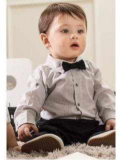 Roupa Social Para Bebê Com Suspensório
