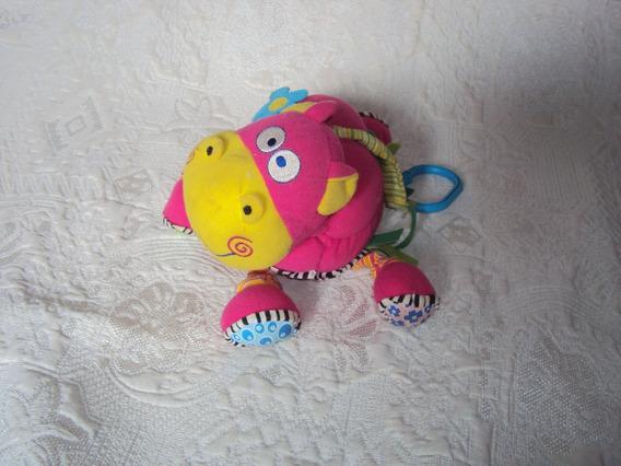 Pelucia Rosa Mobile Para Berço Touro The Colors Tamanho 20cm