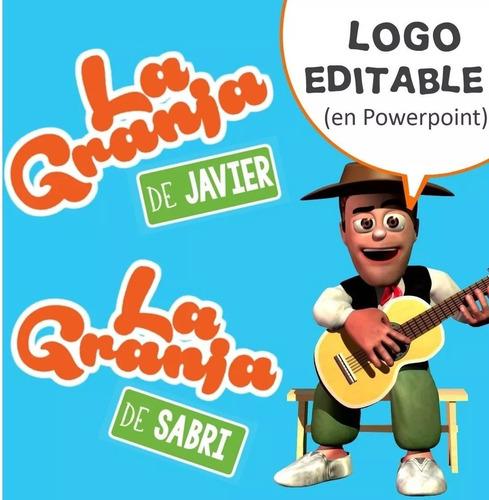 Logo Editable Personalizado Nombre La Granja De Zenon