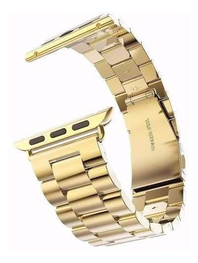 Correa De Reloj Hoco Acero Inoxidable Color Oro Apple Iwatch