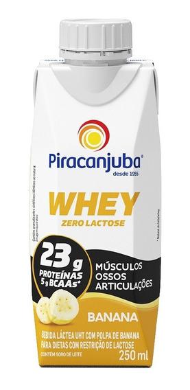 Piracanjuba Whey Zero Lactose Sabor Banana 250ml