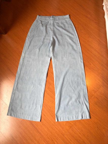 Calça Pantalona Azul Jeans