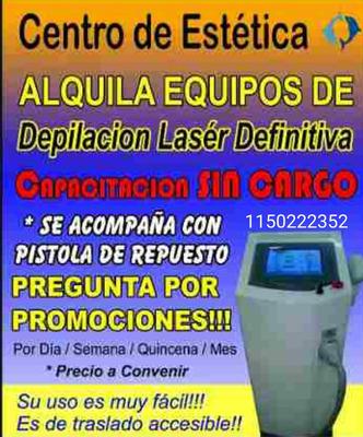 Alquiler Equipo Depilacion Definitiva Laser808 Y Tri Soprano
