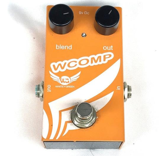 Pedal Wg White Green Wcomp Compressor - Fotos Reais!