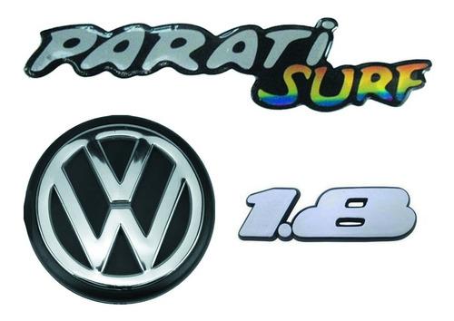 Imagem 1 de 6 de Kit Emblemas Parati Surf 1.8 + Vw Traseiro Parati Surf 94/95