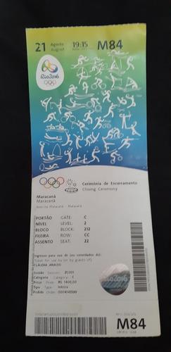 Ingresso Encerramento Olimpiadas Rio 2016