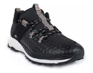 Zapatillas Montagne Trail Running Fast Traction Negra