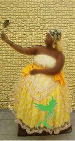 Baiana Orixá Yabas/umbanda/candomblé/orixas/roupas/axó Luxo