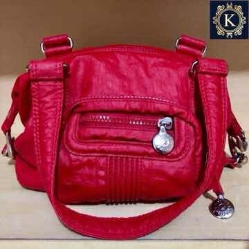 Bolsa De Mão Kipling Original Vermelha
