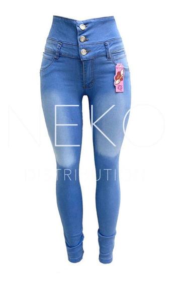 Pantalon Colombiano Jeans Cintura Alta Moda Skinny