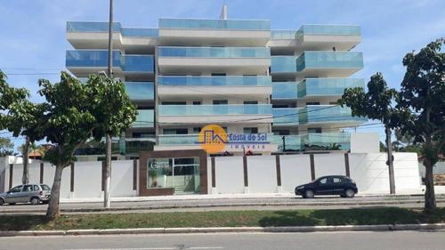 Lindo Apartamento Com 3 Dormitórios À Venda, 117 M² Por R$ 951.399 - Costazul - Rio Das Ostras/rj - Ap0290