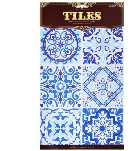 Azulejos Hidráulicos Adhesivos C/u 15x15cm - 6 Pc -crfyc1002
