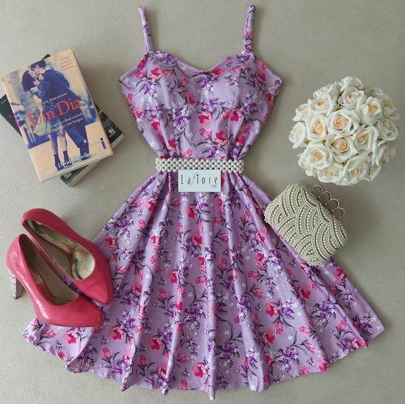 Vestido Boneca Rodado Com Alças Lafiore Store