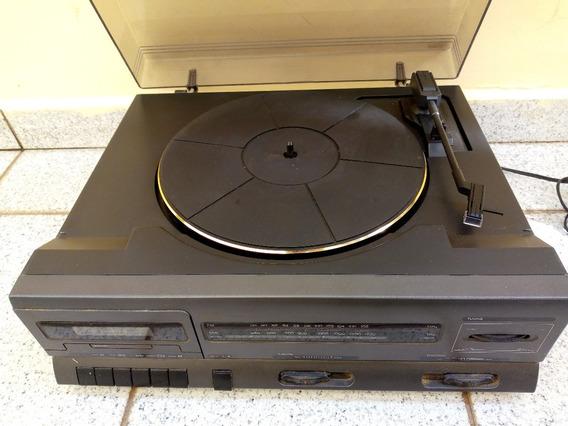 Som Cce Antigo 3 Em 1 Vinil Disco Tape Fita Radio