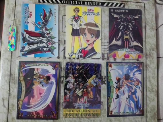 6 Tarjetas Originales Japonesas Del Anime Escaflowne