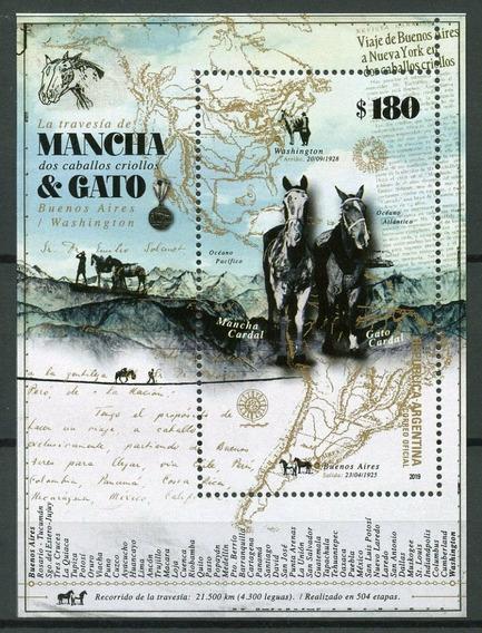 2019 Tradiciones- Mancha Y Gato - Caballo - Argentina Mnh