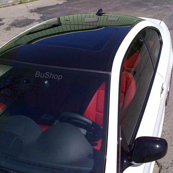 Vinilo Negro Brillante Techo Auto Simil Vidrio 1,26m X 50cm