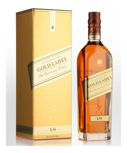 Whisky Johnnie Walker Gold Label 18 Años 750ml En Estuche