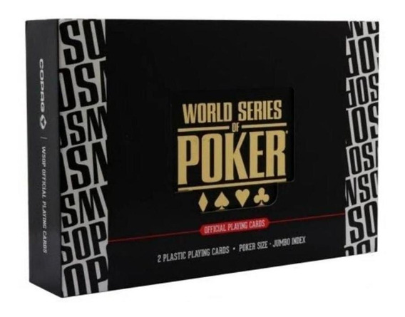 Cartas Baralho Estojo Plastico World Series Of Poker Copag