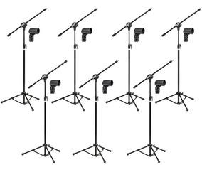Kit 7 Pedestais P Microfone Arcano Modelo Vector C/ Cachimbo