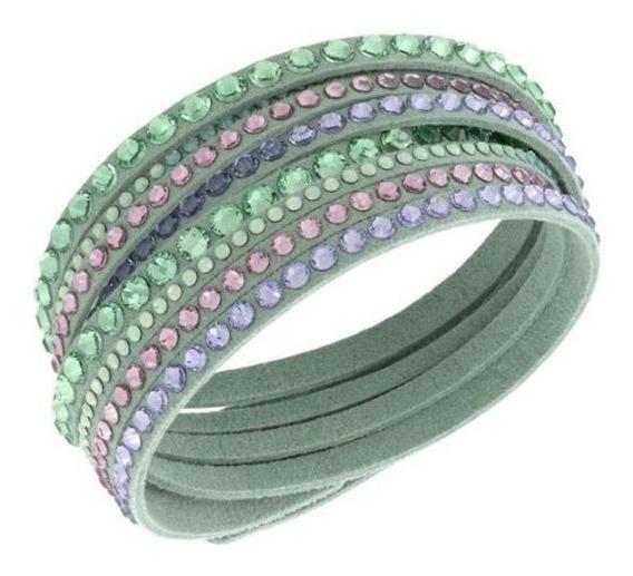 Pulsera, Color Verde, 36 Cm, Swarovski