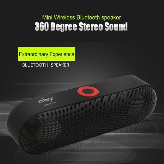 Caixa De Som Nby-18 Bluetooth Alto-falante Sem Fio Portátil