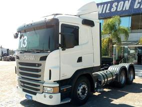 Scania G 400, 6x2, Branco, 2013. Automático, Defletor.