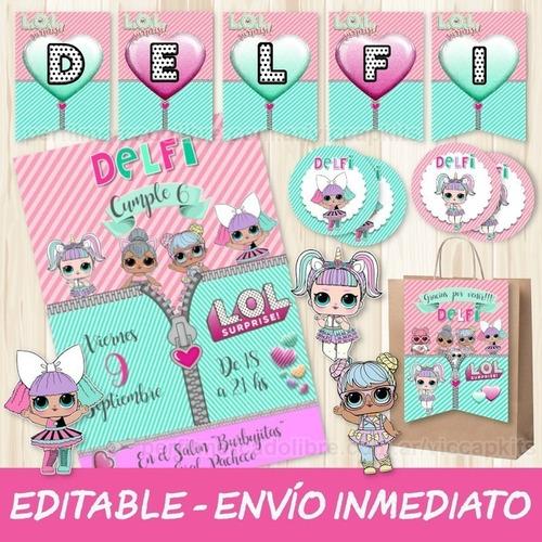 Kit Imprimible Lol Surprise Editable Decoración Candy Bar