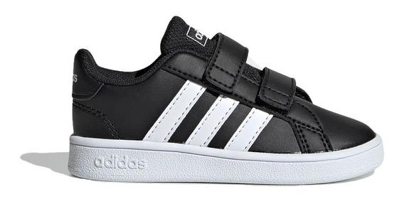 Zapatilla adidas Lifestyle Niño Grand Court Negro - Bco Ras