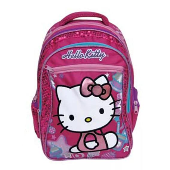 Mochila De Espalda Hello Kitty 17puLG. Lic. Original!! Footy