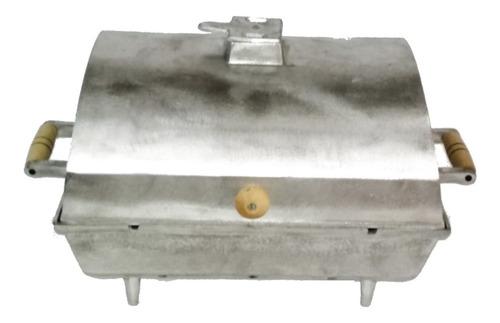 Imagem 1 de 3 de Churrasqueira Grande Alumínio Fundido / Batido À Bafo