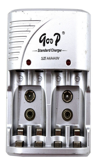 Carregador De Pilhas Aa Aaa 9v Good Standard Charger A5231