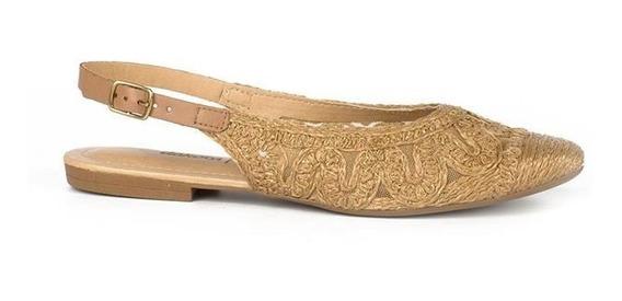 Sapato Dakota G 1492 Sapatilha Feminina Slingback Nude Luxo