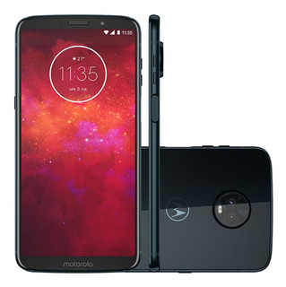 Motorola Moto Z3 Play Xt1929 64gb 4gb Ram Azul Vitrine 2
