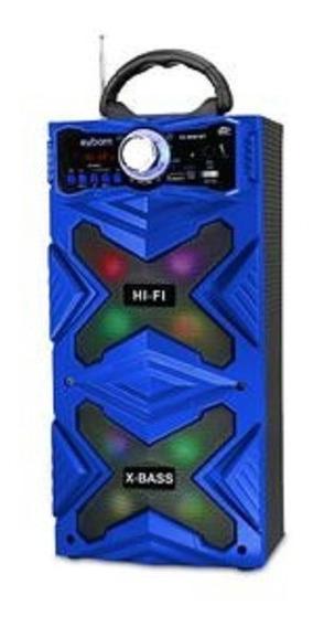Caixa De Som Bluetooth Super Bass 12w Cs-m481bt Exbom Mic
