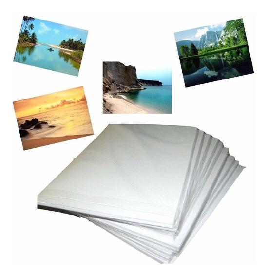 500 Folhas Papel Foto Glossy Adesivo 130g A3 Prova D