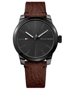 Relógio Tommy Hilfiger Couro Marrom 42mm