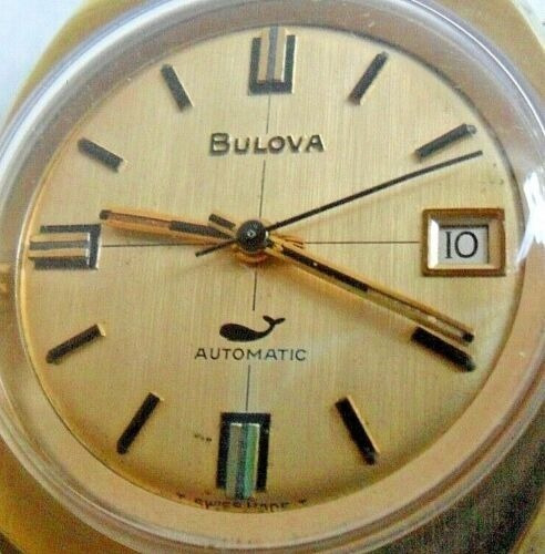 Relógio Bulova Sea King Automatic Swiss - Banho Ouro
