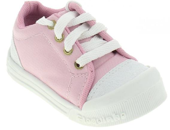 Tênis Brink 63.510.25 Infantil Rosa Comfort Flokinho