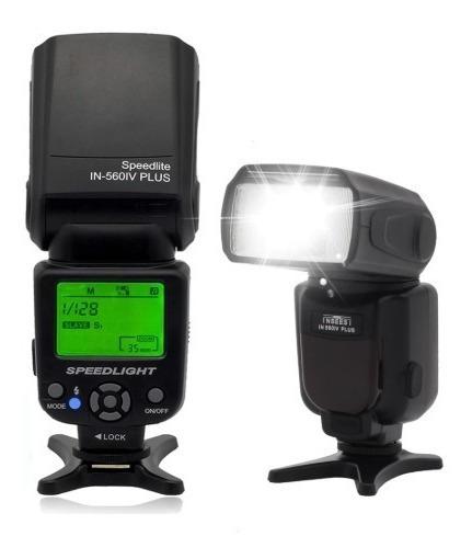Flash Universal In-560iv Plus Câmera Dslr P/ Canon Nikon Out