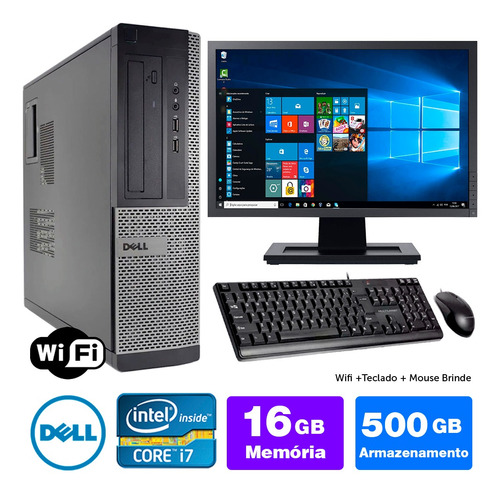 Cpu Usado Dell Optiplex Int I7 2g 16gb 500gb Mon19w Brinde