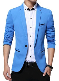 Blazer Slim Masculino Azul - Blazer Casual - Store Elegance