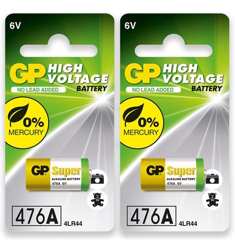 Imagem 1 de 6 de 02 Baterias 4lr44 4a76 910a 6v Alcalina Super Gp 2 Cartelas