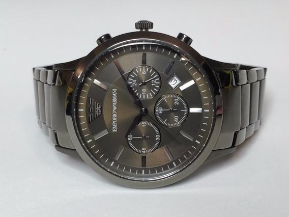 Reloj Emporio Armani Ar2454 Gris Plomo Original Nuevo