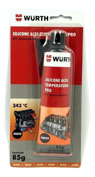 Adesivo Cola Silicone Alta Temperatura Pro Preto Wurth 343ºc