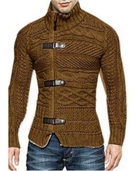 Cardigan Imperador Masculino Trend Coat E Couro Ref: 837
