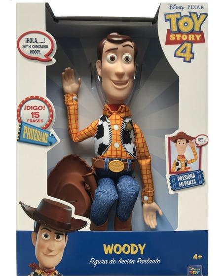 Muñeco Woody Toy Story 4 Figura De Acción Habla Orig!!