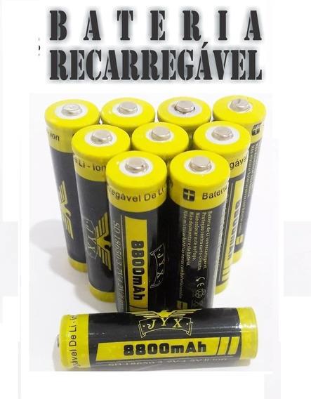 12- Recarregáveis Super Baterias Li-ion 18650 8800mah 3.7v