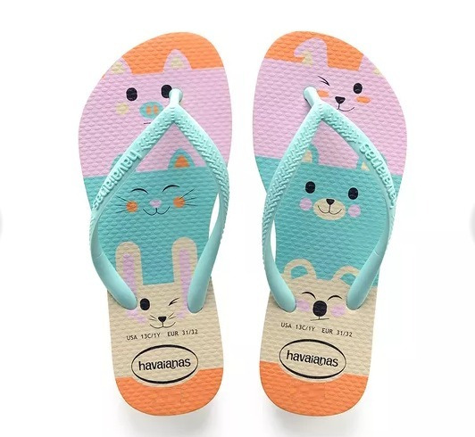 Chinelo Havaianas Kids Slim Fun Bichinhos Modelo 29/30