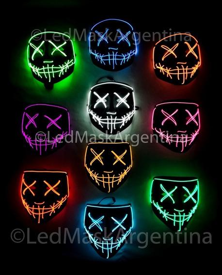 Mascara La Purga Con Luces De Color Premium Disfraz Original